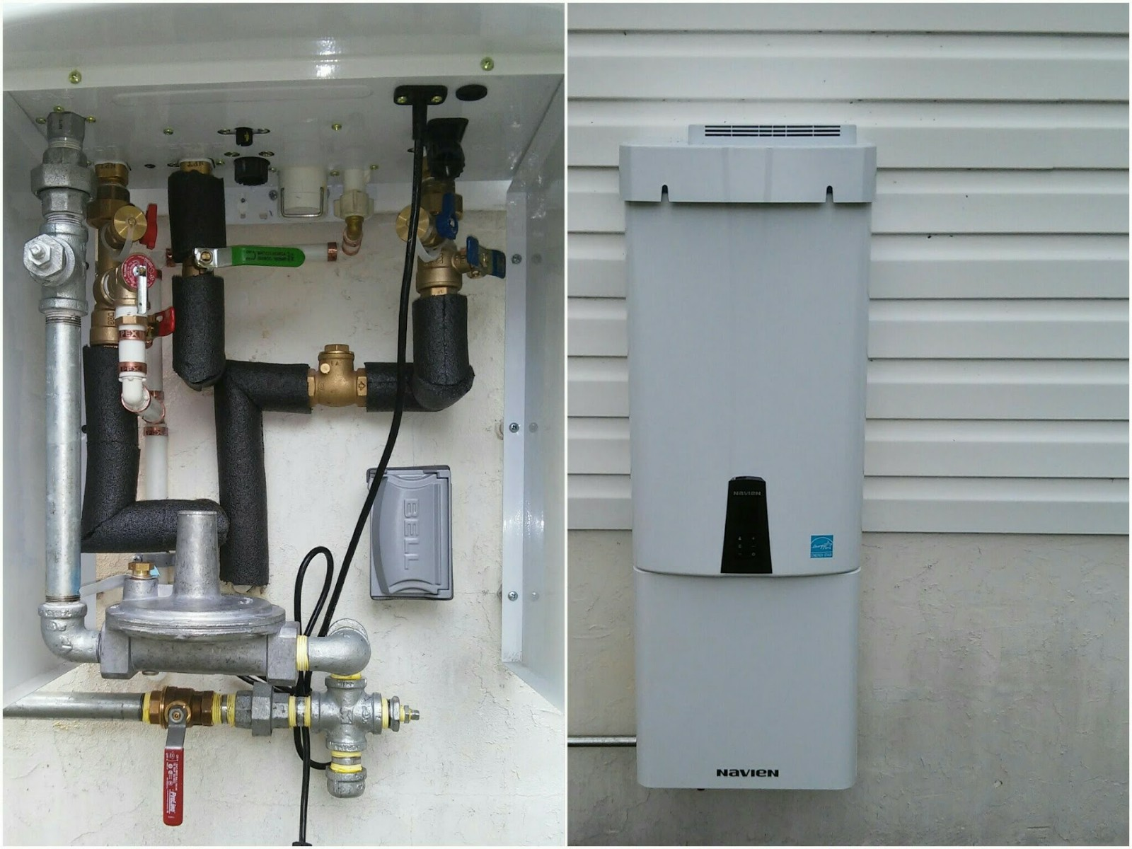 Cascade Plumbing Tankless Water Heater In Out