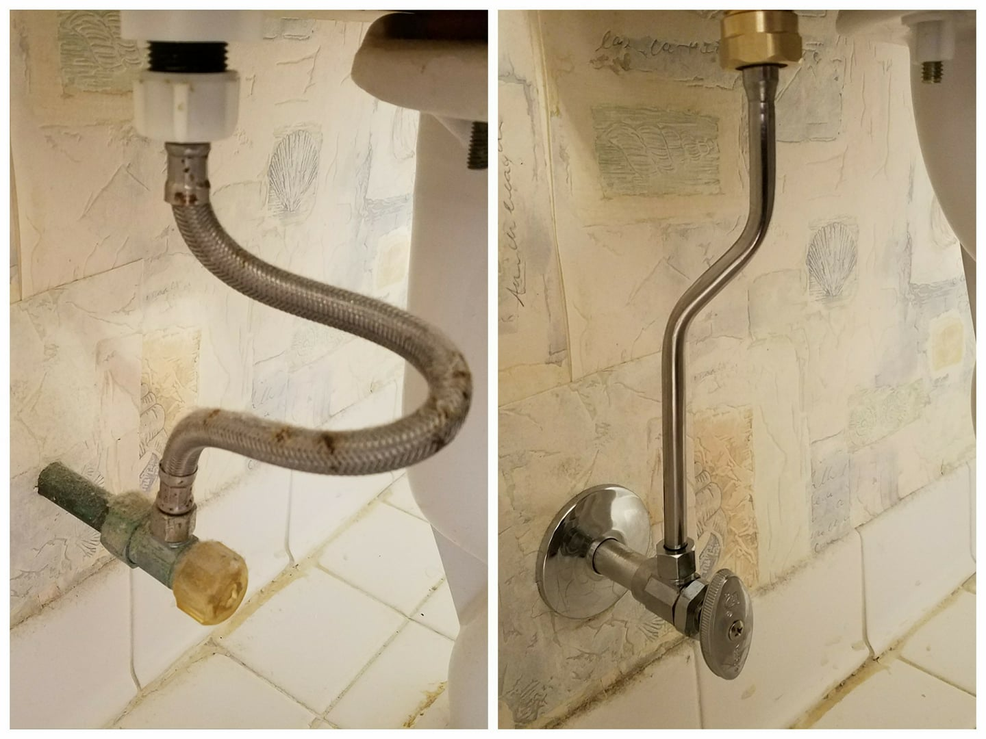 Before After Toilet Line Cascade Plumbing